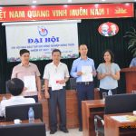 Lễ kết nạp các đồng chí hội viên vào Hội nhà báo Việt Nam.