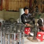 Máy cày mini tự chế của nông dân